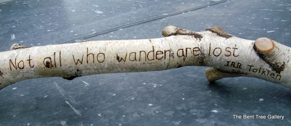 Birch Home Decor Tolkien Quote Wood Burned Saying