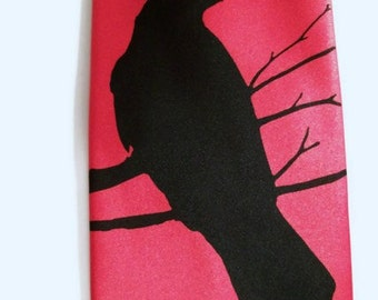 Mens neckties, set of 10 ties. Raven Crow design by RokGear