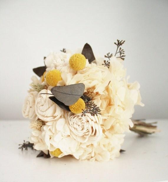 Button Bridal Bouquet Etsy : Bridal bouquet