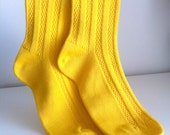 Vintage Yellow Over the Knee Socks