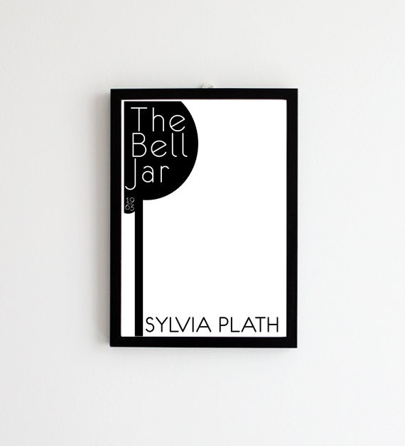 The Bell Jar - Sylvia Plath // Book Cover Print