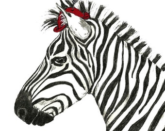 Zebra Art - Zebras Love Hats Too