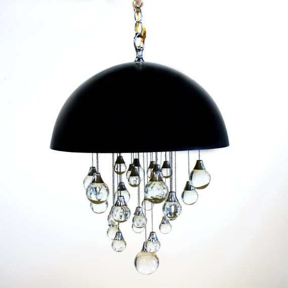On hold for raspberrybird Mod Glass Hanging Chandelier Lamp 60s 70s