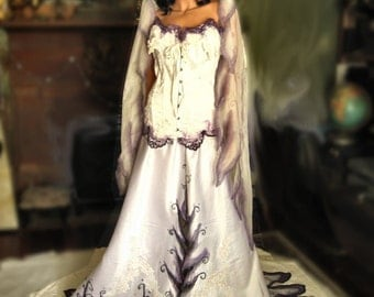 Items similar to french quarter voodoo queen gown on etsy for Corpse bride wedding dress for sale
