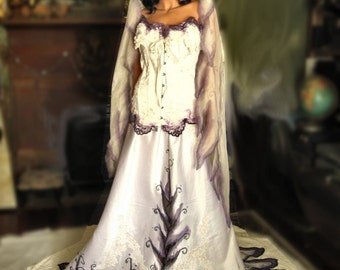 Corpse Bride Gothic Wedding Gown