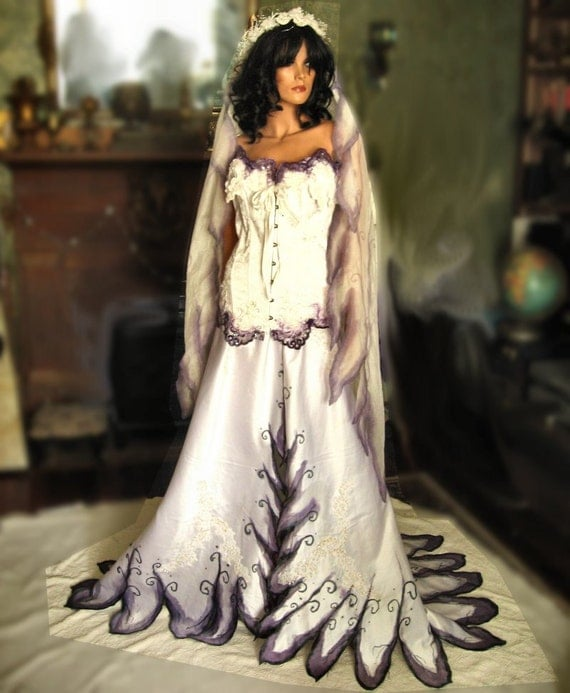 Items Similar To Corpse Bride Gothic Wedding Gown On Etsy