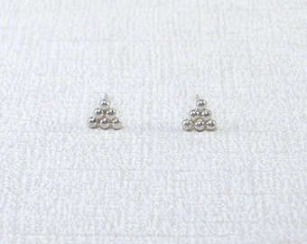 Silver Triangle Post Earrings Tiny Silver Studs Silver Studs Little Silver Post Earrings Sterling Earring simple ear studs tiny stud earring