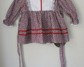 Vintage Apple Dress with Bloomers - 12M