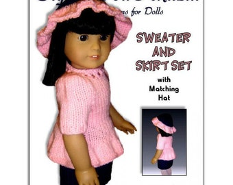 Knitting Pattern, fits American Girl and all 18 inch dolls. PDF, Instant  Download 020