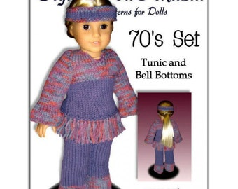 Knitting Pattern for Dolls. Fits American Girl Doll. Tunic. Instant Download . 027