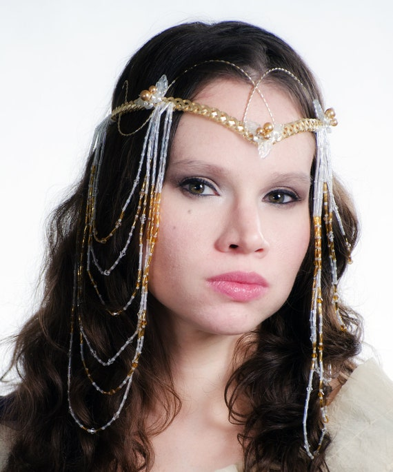 Custom Elven Wedding Headdress Art Nouveau