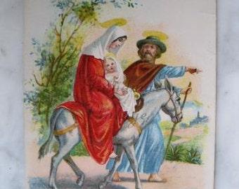 Antique Hungarian Christmas Postcard. Boldog karacsoniji Unnepeket. 1910 Era