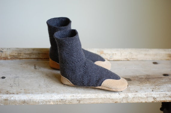 Slippers, Wool & Leather, Eco Friendly, size 7.5, Lamb to School, SALE