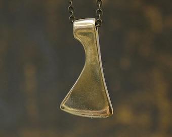 SALE - Axe Head Necklace in Solid Bronze Lizzie Borden Hatchet Ax 197