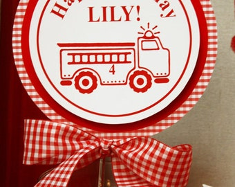 RED FIRETRUCK Printable Welcome Sign - Boy or Girl