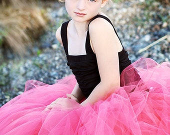 Paris Pink - Sewn Bright Pink Tulle Skirt - Hot Pink Tutu - Custom Made - flower girls, photography prop, special occasion, holidays