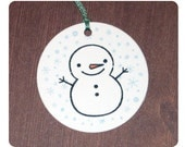 Set of 12 Cute Snowman Holiday or Christmas Gift Tags