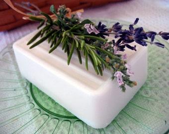 Vegan Soap - Castile Olive Oil Soap Fresh Cut Grass Natural Soap. Colorant free. Mens Soap