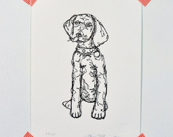 Dog - Letterpress Print