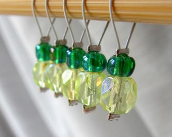 SALE 10% OFF - Sunshine Flows - Five Snag Free Stitch Markers - Fits Up To 5 mm (8 US) - Limited Edition
