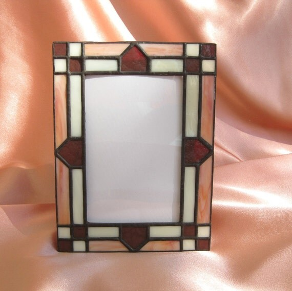 Indian Summer 4 x 6 Stained Glass Picture Frame