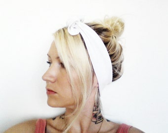 The Top Knot Headband- In White