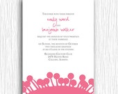 Wedding Invitation - Pink and Grey Flowers - Customized Printable