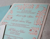 Flourish and Bloom Eco-Friendly Wedding Invitation Suite Sample