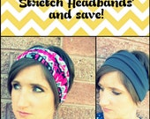 2 for 18 - Simple Boho Wide Stretch Headbands Deal - FREE SHIPPING
