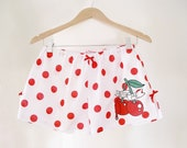 Cherry Pyjama Shorts, Polka Dot Boxer Shorts, Cherry Tattoo Shorts, Tattoo Style Pyjamas, Pin Up Girl, Made To Order in Sizes XXS - 4XL