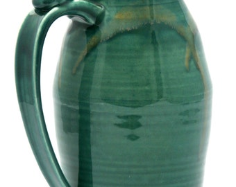 Green Pitcher in Copper Mountain Glaze Combination