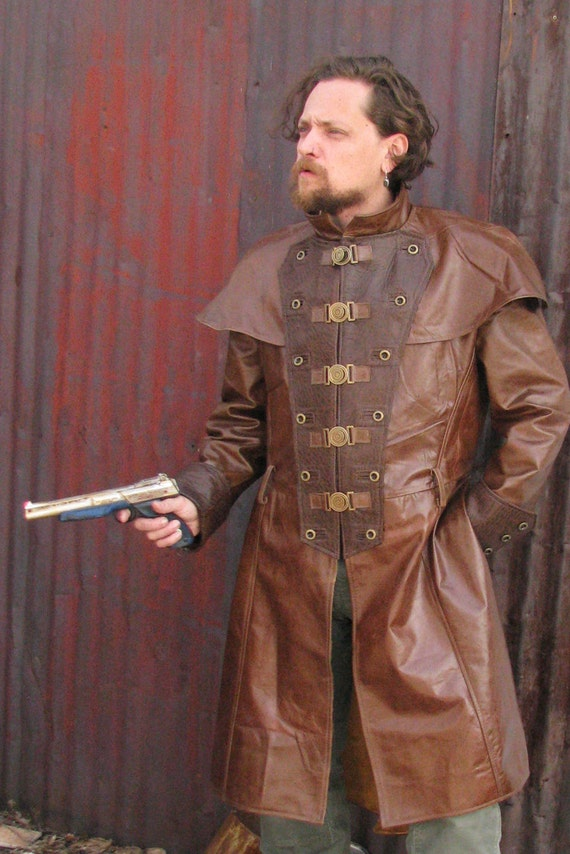 Custom Leather Dusters Modern Steampunk Western Scifi
