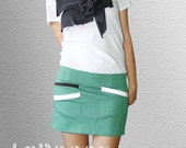 Short Skirt in Aqua / Turquoise
