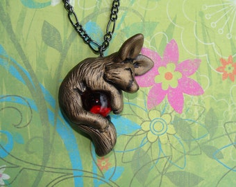 Fennec Fox Necklace Polymer Clay