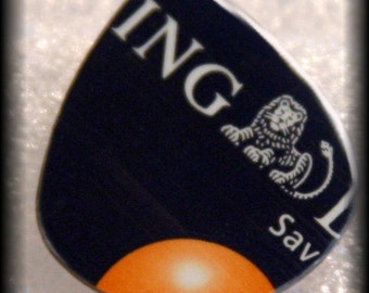 RARE-ING LION-Guitar Pick-Upcycled Credit-Card-Med Guitar Pick