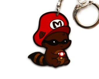 Mario the Raccoon Key Chain Charm