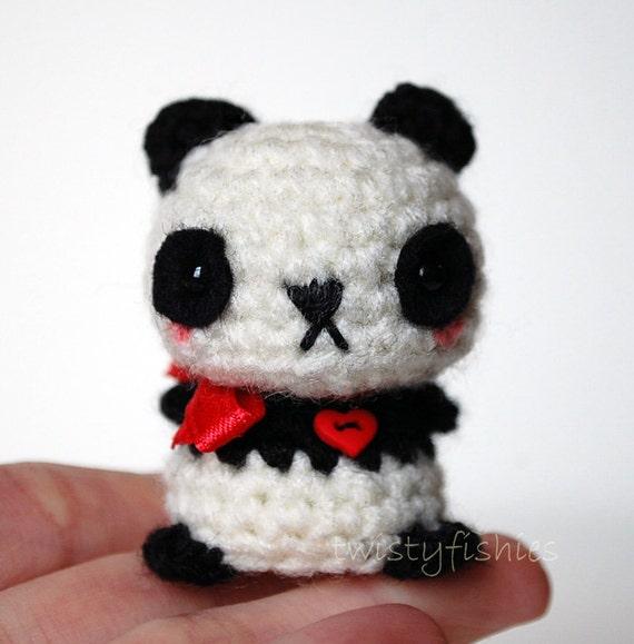 Kawaii Panda Amigurumi : Baby Panda Kawaii Mini Amigurumi Plush