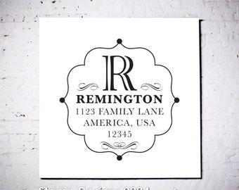 Wood Handle Rubber Stamp - Address Stamp, Gifts for Wedding, Housewarming, Etsy Labels, Return Address Stamp, Christmas Card - Design 0024