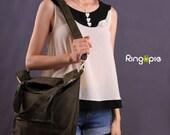 Sale 20%OFF-Ready To Ship-Olive Green Casual Tote/messenger/shoulder bag/school/laptop bag/handmade bag/sling bag/purse/For Her/For Him-057