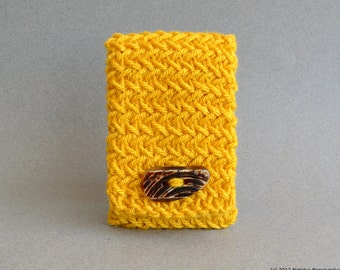 Yellow Phone Case, Knit Phone Case, Android Case, Cell Phone Case, Android Phone Case, iPhone Case, iPhone Cover, Stocking Stuffer