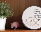 "Picky Duck Hand Embroidery - 6"" Hoop"