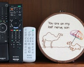 "Moody Camel Hand Embroidery - 7"" hoop"