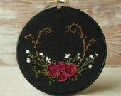 Wildflowers Embroidery Hoop Wall Decor
