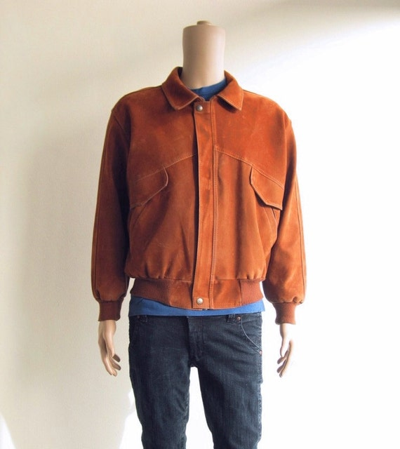 Dazed and Confused, 90s Does 70s Brown Suede Bomber Jacket