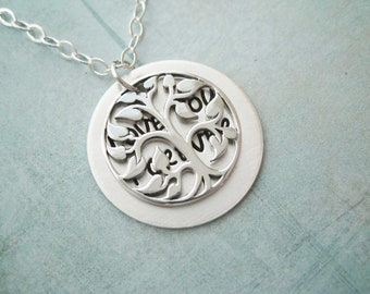 Tree of Life Secret Message Necklace Sterling Silver Pendant Mother Wife Girlfriend Sister best friend