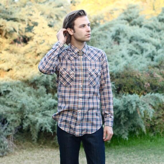 Levi's Plaid Sawtooth Pearl Snap Western Shirt - S/M