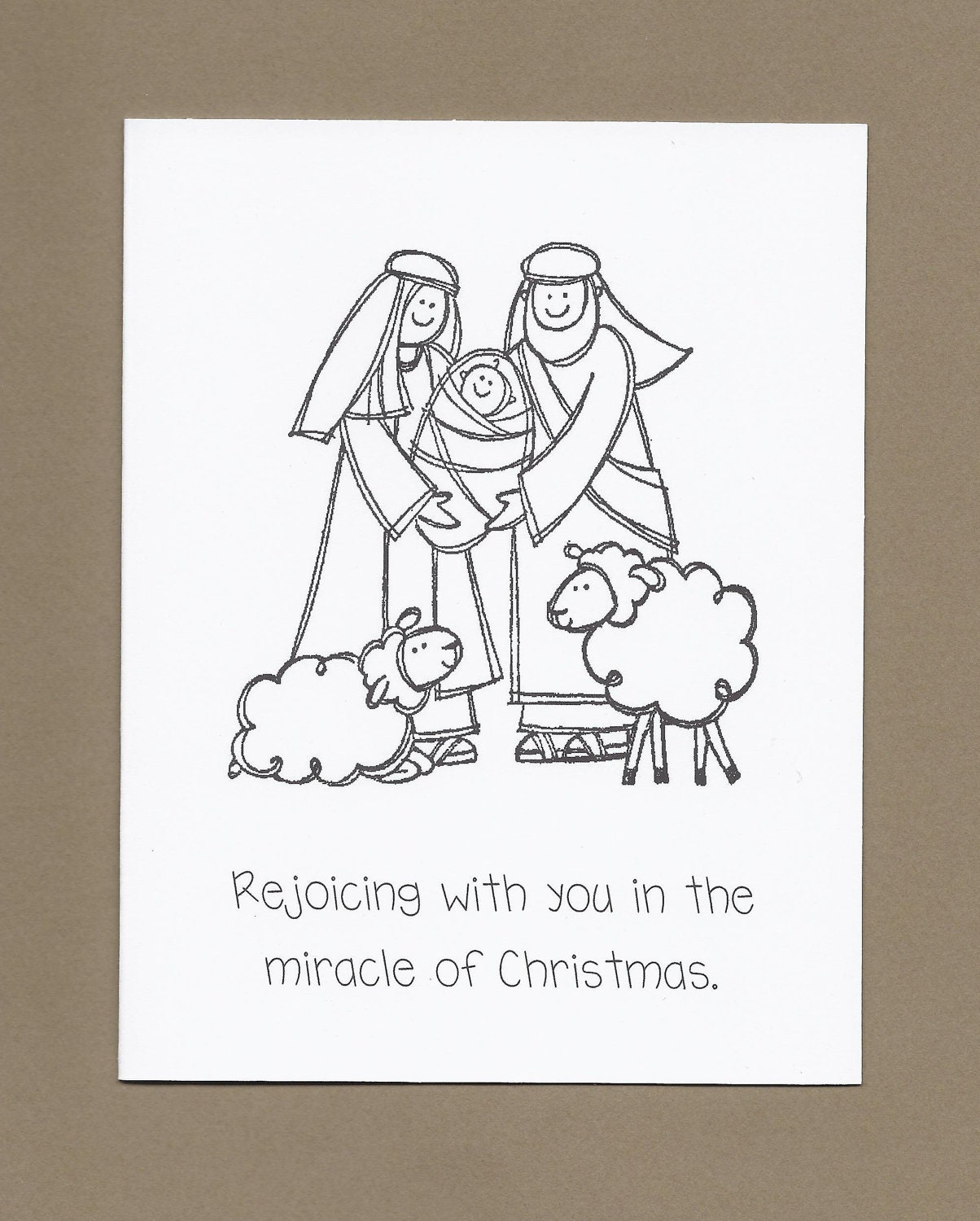 Christmas cards coloring -  Zoom