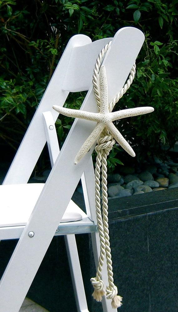 Beach wedding starfish chair decoration by seashellcollection for Where can i buy nautical decor