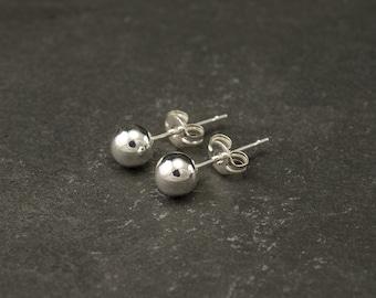 Silver Ball Stud Earrings- Silver Ball Studs- Silver Ball Earrings- Small Silver Stud Earrings- Sterling Silver Post Earrings