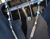 Blue Pearl and Multi Chain Necklace